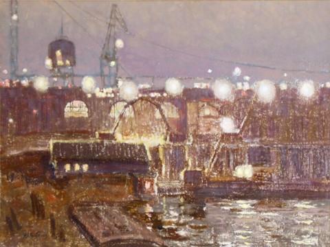 Горьковская ГЭС 2 ноября 1955 года в день пуска первого агрегата. 1975 год